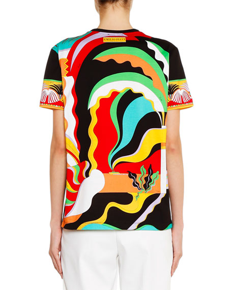 Emilio Pucci Short-Sleeve Sunrise Graphic T-Shirt