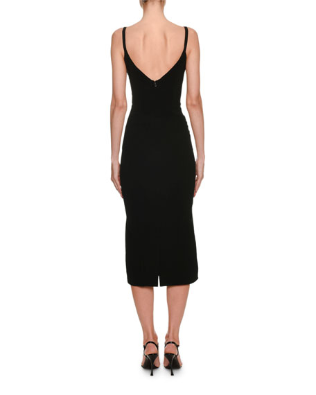 Dolce & Gabbana Thin-Strap Corset Midi Dress