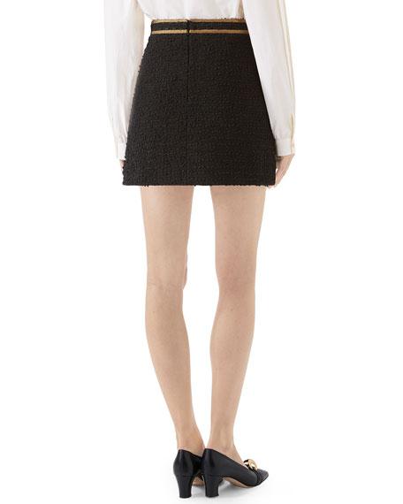 Gucci Boucle Tweed Mini Skirt