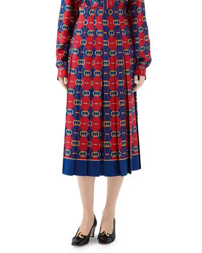 GG Wave Twill Skirt