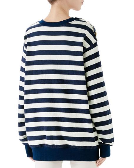 Gucci Cote d'Azur Striped Patchwork Sweatshirt