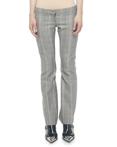 Prince of Wales Kick-Back Pants