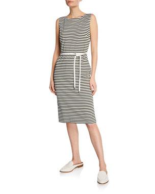 3a7dce3d736 Maxmara Comica Sleeveless Striped Jersey Dress