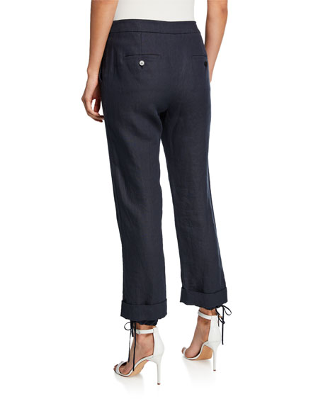 Maxmara Denver Linen Zip Front Trousers