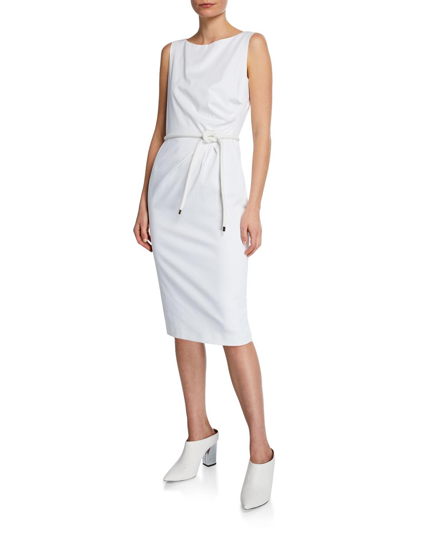 e95a2edc29e Maxmara Cordoba Sleeveless Belted Dress
