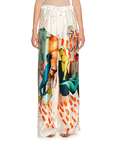 Marni Drawstring Art Print Pants