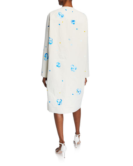 Marni Hand-Painted Floral Coat