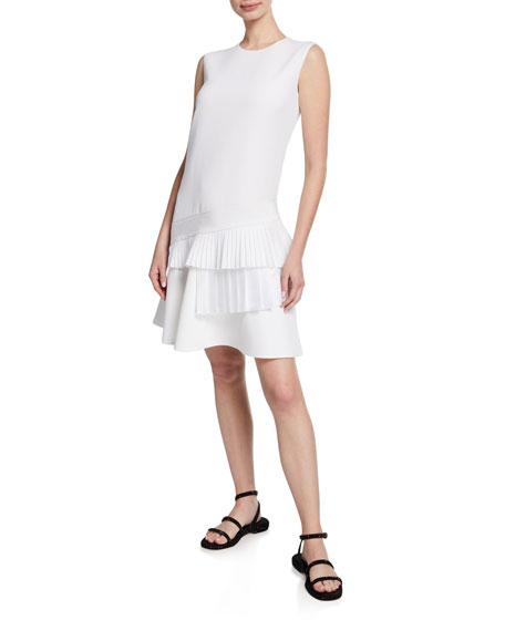 Victoria Victoria Beckham Satin-Tiered Drop-Waist Dress