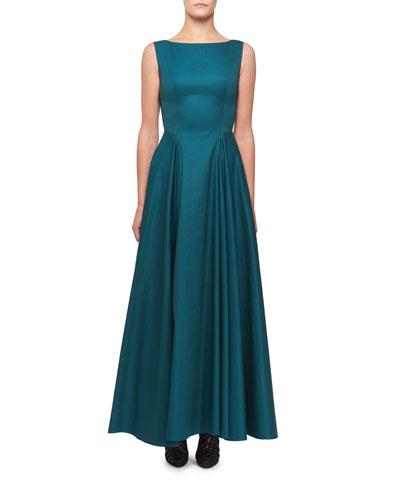Sleeveless Cotton Full Skirt Dress