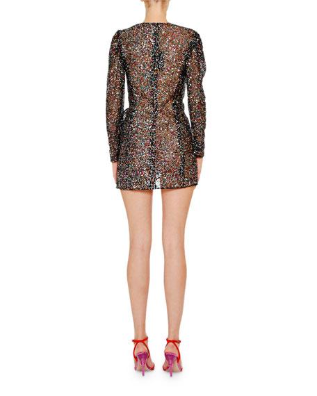 The Attico Pat Sequin Mini Cocktail Dress