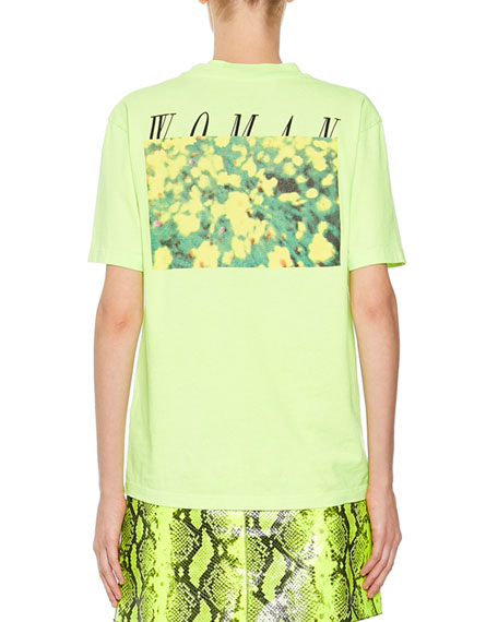 Off-White Floral Graphic Logo Tee
