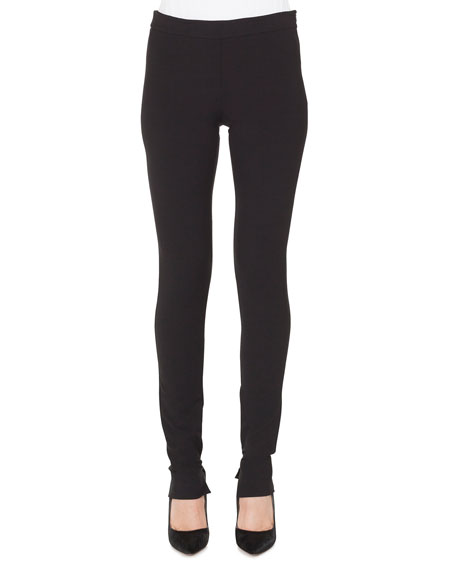 Akris Melissa Skinny Side-Zip Stretch-Flannel Pants