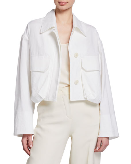 Dries Van Noten Garment Washed Crop Jacket