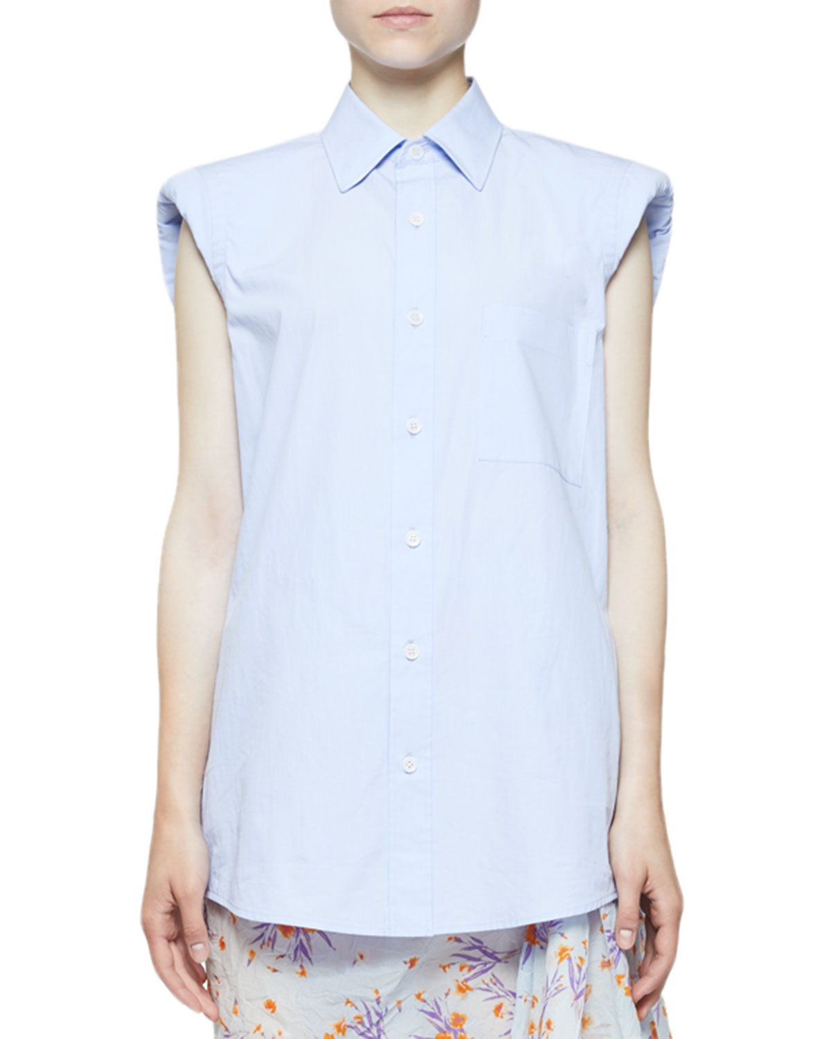 beab9674f5 Dries Van Noten Casulo Padded-Shoulder Button-Front Shirt