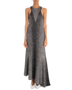 2482ca2513fe Givenchy Asymmetric Two-Tone Shimmer Racerback Gown