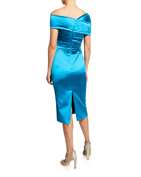 Talbot Runhof Sole Asymmetric One-Shoulder Cocktail Dress