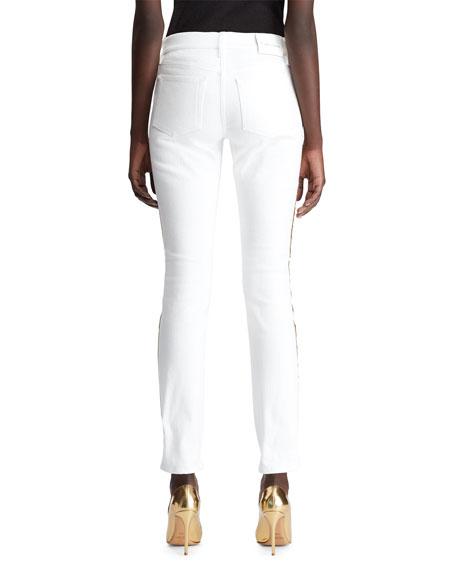 Ralph Lauren Collection 160 Tux-Stripe Skinny Jeans