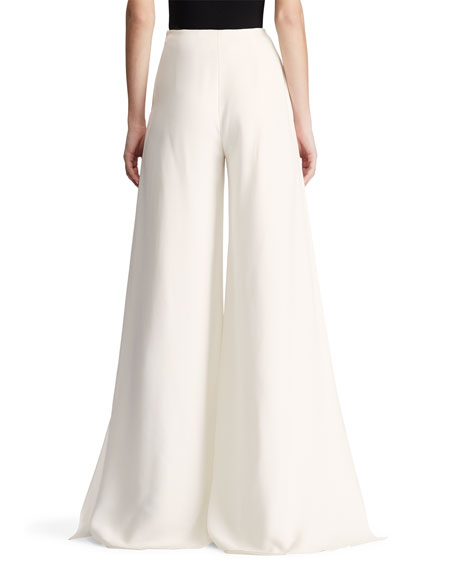 Ralph Lauren Collection Adele Sculptural Cady Palazzo Pants