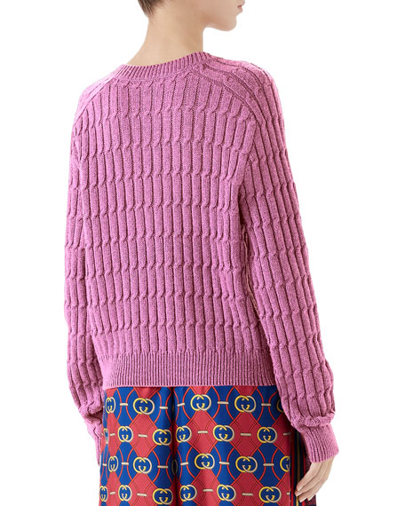 Gucci Shimmer Cable Sweater