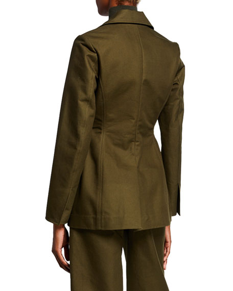 Co One-Button Fitted Blazer