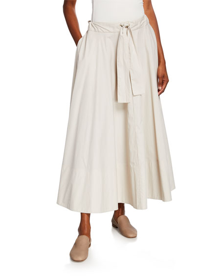 Co Cinched-Waist Circle Skirt