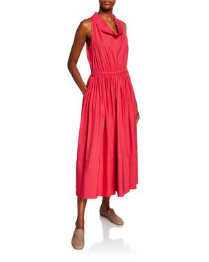 dc875903b9 Co Cowl-Neck Broadcloth Midi Dress