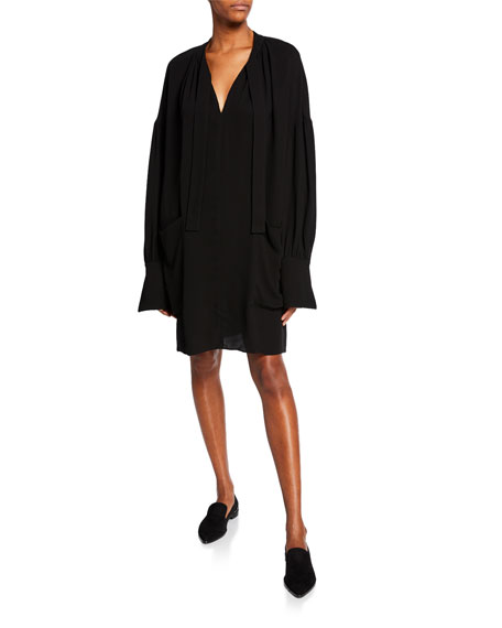 Co Long-Sleeve Dropped Shoulder Dress