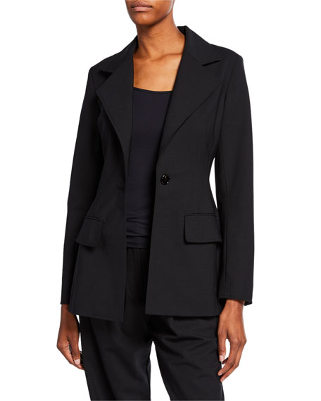 Co Fitted One-Button Blazer
