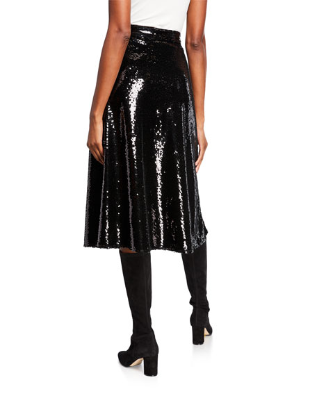 Co Sequined Pull-On Skirt