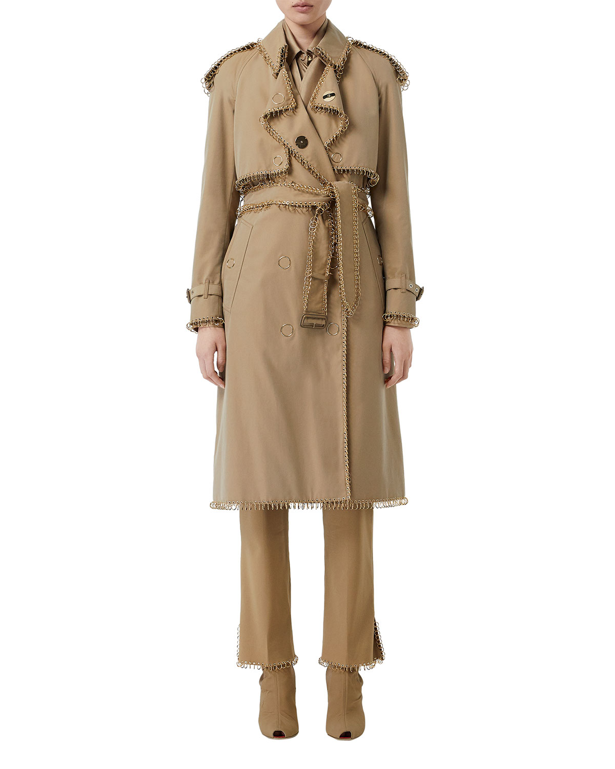 f4fa4519bcdd3 Burberry Ring-Trimmed Double-Breasted Trench Coat