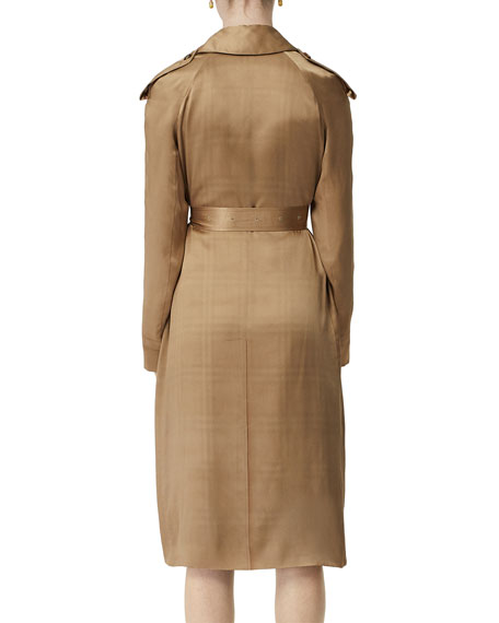 Burberry Silk Satin Dressed Trench Coat