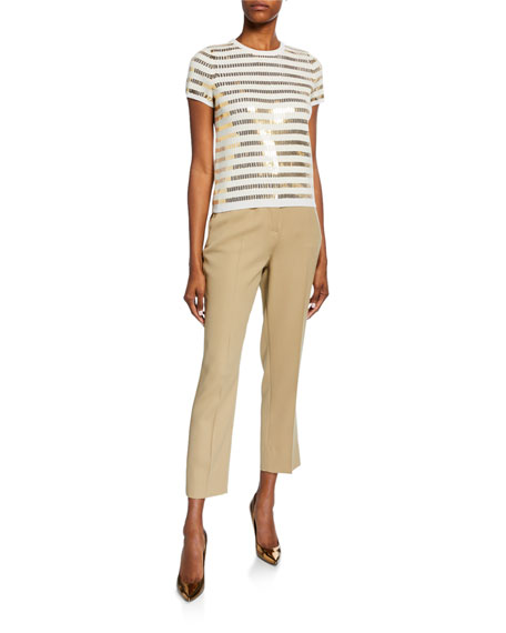 Burberry Cigarette Zip-Front Pants