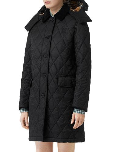 Dereham Baughton Diamond-Quilted Coat