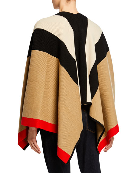 Burberry Cape Striped Wool-Blend Wrap