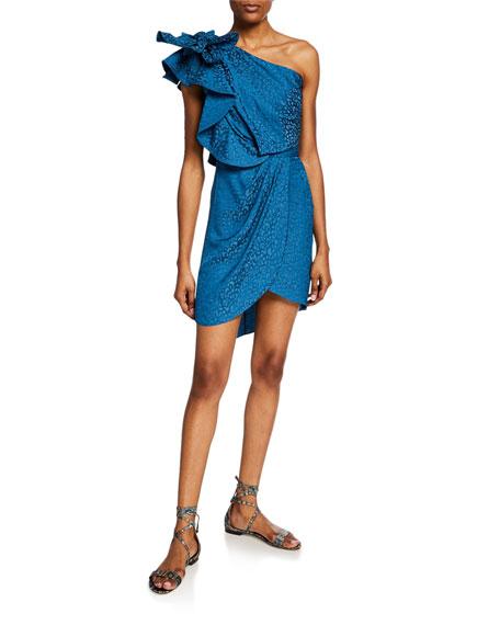 Johanna Ortiz Opponent Interpretation Jacquard One-Shoulder Dress