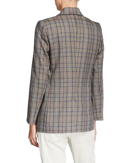 Brunello Cucinelli Peak-Lapel Wool/Cotton Jacket