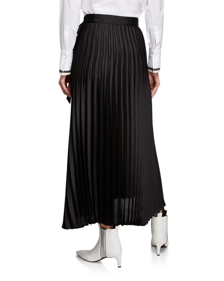 Brunello Cucinelli Pleated Georgette Midi Skirt