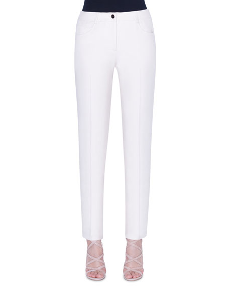 Akris Magda Cotton-Silk Slim-Leg Pants