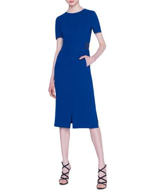 30c07a7508 Akris Double-Face Wool Crepe Sheath Dress