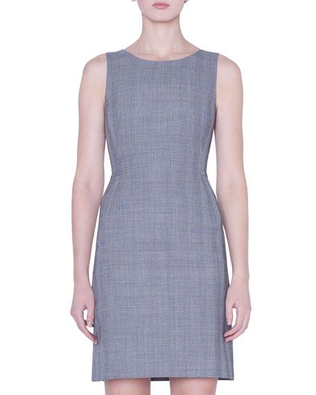 Akris Glen-Check A-Line Dress