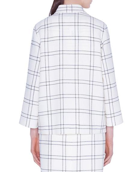 Akris Clemence Wool Crepe Jacket