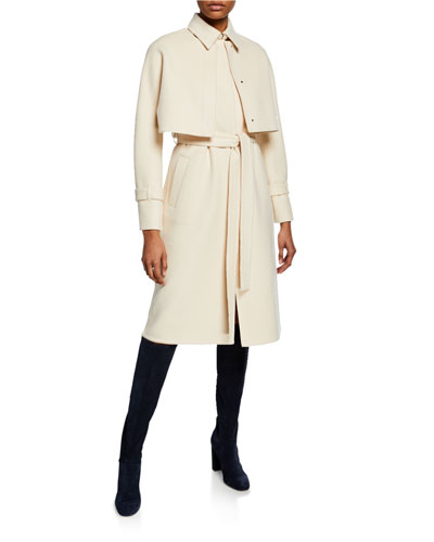 3-In-1 Baby Cashmere Trench Coat