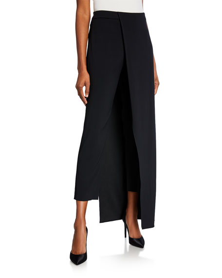 Hellessy Eclipse Fitted Trousers with Overskirt