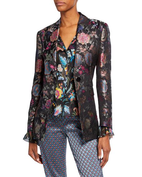 Etro Floral Brocade Fitted Blazer