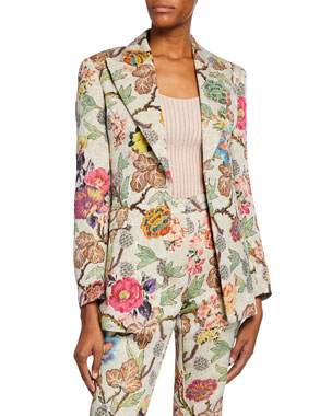 Clothing, Shoes & Accessories United Neiman Marcus Women's Tweed Maroon Floral Design Career Blazer Jacket Size M Special Summer Sale Suits & Suit Separates