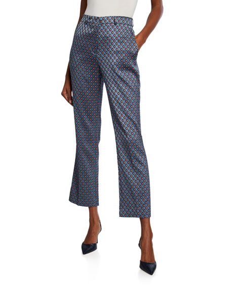Etro Geometric Jacquard Crop Trousers
