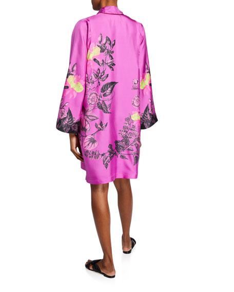 Etro Floral Silk Twill Shirtdress