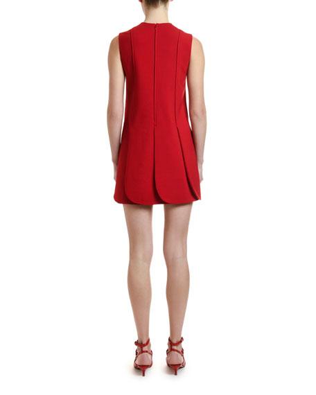 Valentino Sleeveless Petal-Hem Crepe Dress
