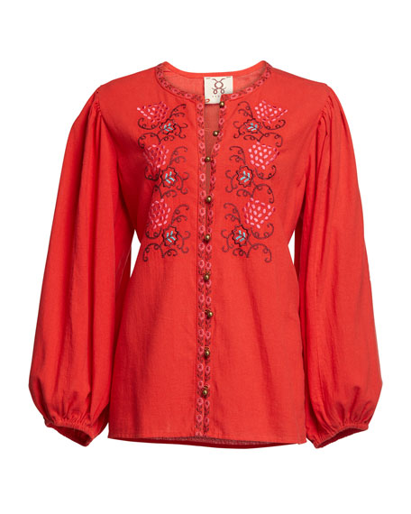 Figue Kiera Floral Embroidered Tunic