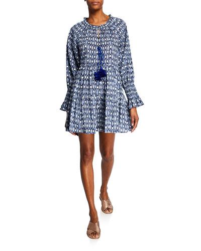 Bella Sumba Ikat Smocked Dress